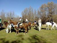 A caballo en la Sierra de Guadarrama