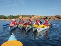 family kayaking days