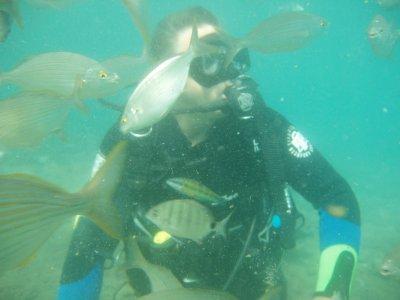 兰萨罗特岛的PADI救援潜水员