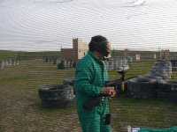 Paintball field in Algete