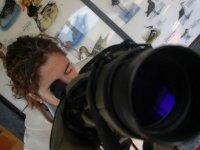 Fotografa con teleobjetivo