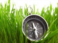 Compass in the field