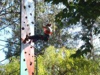 climbing the rocodromo