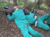 In the paintball field