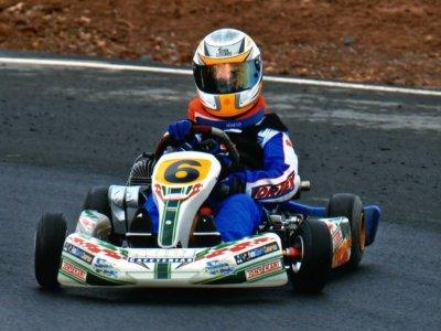 Sandro González y el karting