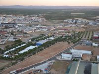 Vista aerea de la zona del aerodromo