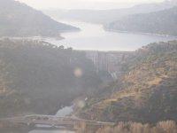 vista della diga dall'aereo