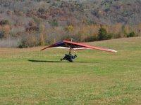 Aterrizaje en ala delta con pasajero