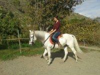 En el caballo blanco