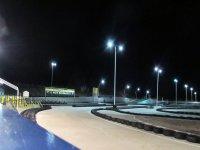 El circuito de karts por la noche