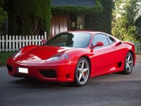 Ferrari a toda velocidad