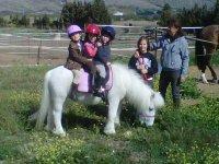 Montando en pony