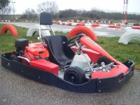 Vista del circuito sobre el Kart