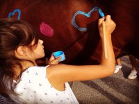 Desarrollo mi creatividad pintando al caballo