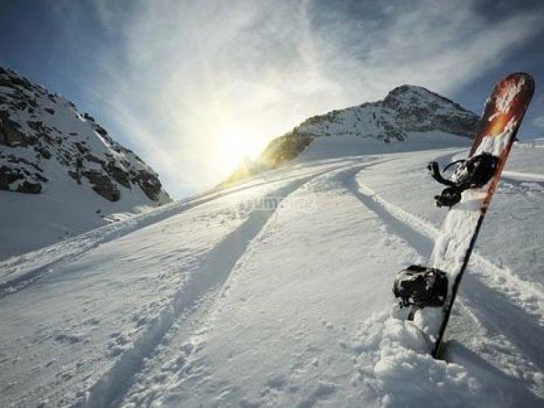 Haz un curso de snowboard