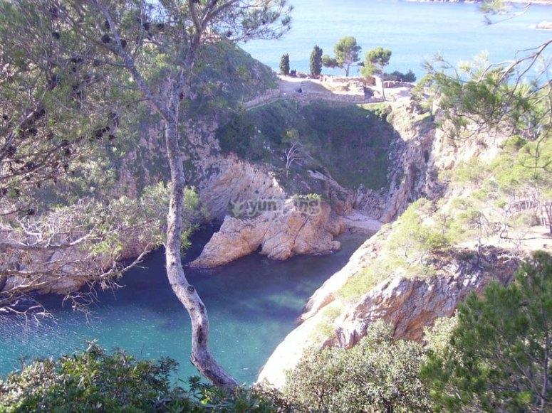 Playa con yacimuento ibero