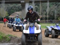 Taking the wheel of the quad