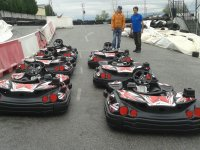 Karts stopped on the circuit