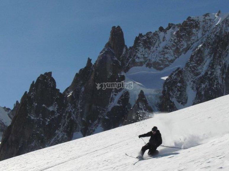 Telemark en la sierra