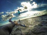 风筝冲浪在卡内拉岛卡内拉岛