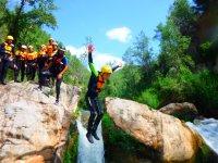 Jump to natural water pools