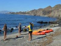 Imparando a fare kayak