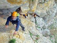铁索攀岩的Gaucin Tirolina
