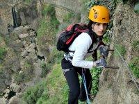 环境费拉塔铁索攀岩铁索攀岩的Gaucin隆达