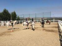 Juegos por equipos a caballo