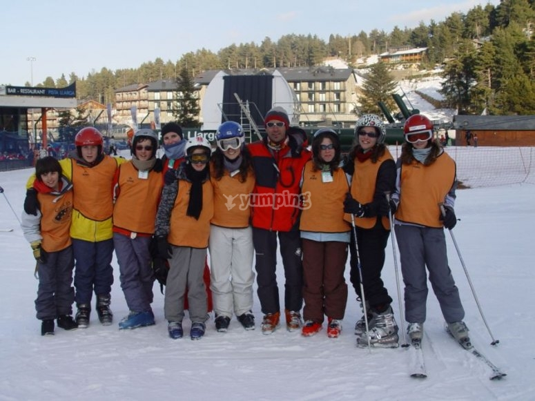 Disfruta de un curso de esquí