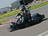 Piloting the kart F-200