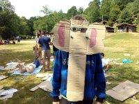 Careta elefante de carton