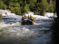 Rowing on the rafting raft