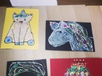 Drawings with glitter