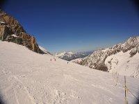 skiing on the mountain
