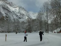 Cross-country skiing course in Huesca