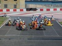 Parrilla de salida en competición de karting