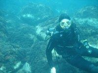 潜水员水下鱼深