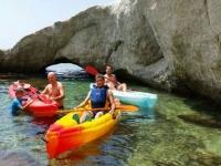 Compartiendo kayak en Carboneras