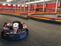Kart en un tramo del circuito