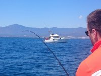 Fishing from a boat in Malaga