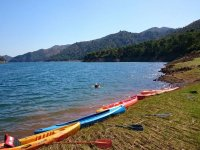 Canoes at the foot of the marbelli reservoir