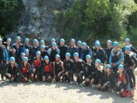 Group of canyoning in Malaga