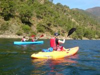 Supervising young people in the canoe