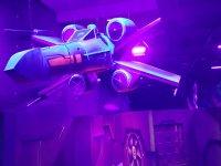 Nave espacial en el laberinto laser