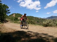Percorrendo il sentiero andaluso in mountain bike