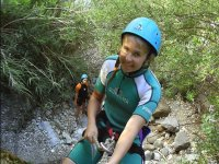 Rappelling down the river