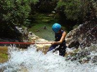 Water rappelling in Marbella