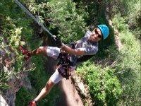 Rappelling in the Sierra de las Nieves