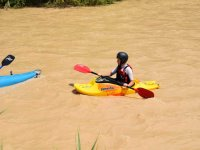 Remando en el rio Genil